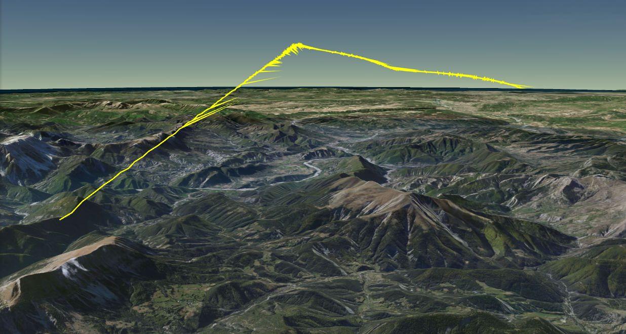 3D Visualisierung Flug 9525